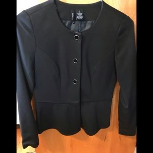 Cute black blazer with peplum bottom